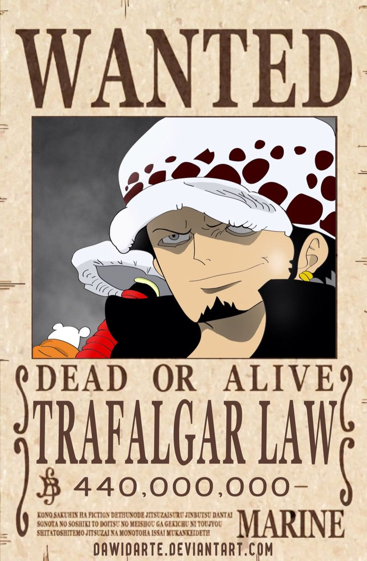 Law Dressrosa Wanted Poster | King Of The Pirates ...