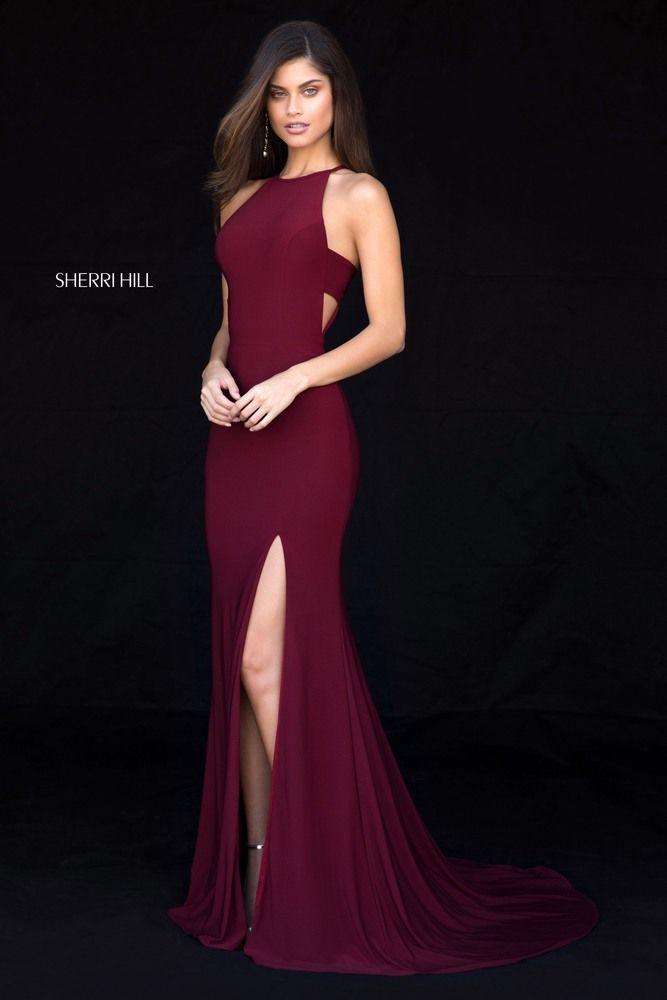 d47da3a1df SHERRI HILL 51947 Vestido De Formatura Vinho