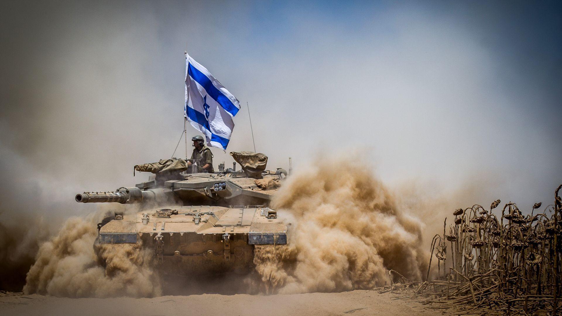 Wallpaper Merkava Mark Iv Tank Flag Israel Army Israel Defense