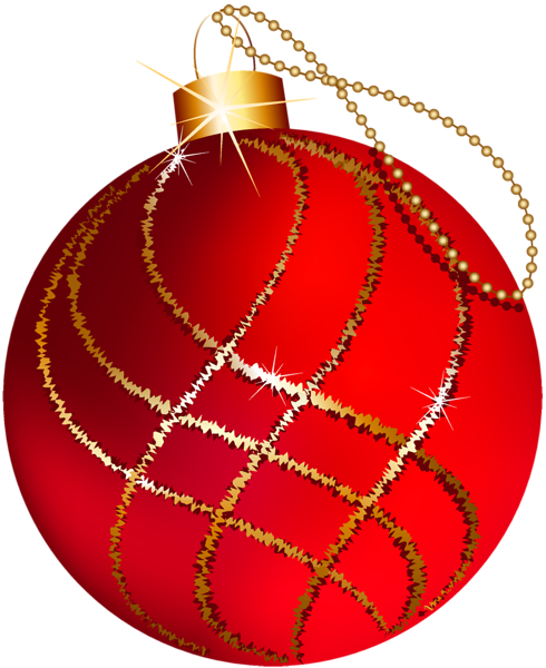 Transparent Christmas Large Red And Gold Ornament Clipart Christmas Ornaments Christmas Decorations Christmas Clipart