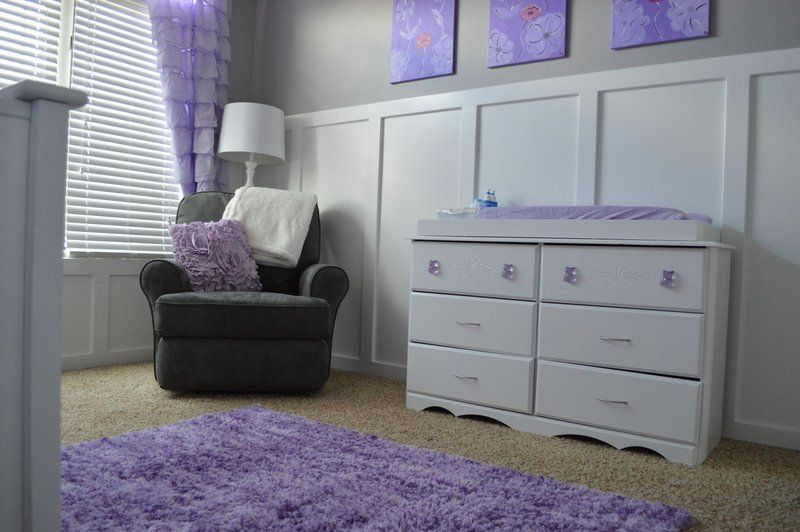 Lavender And Gray Nursery Baby Cline Pinterest