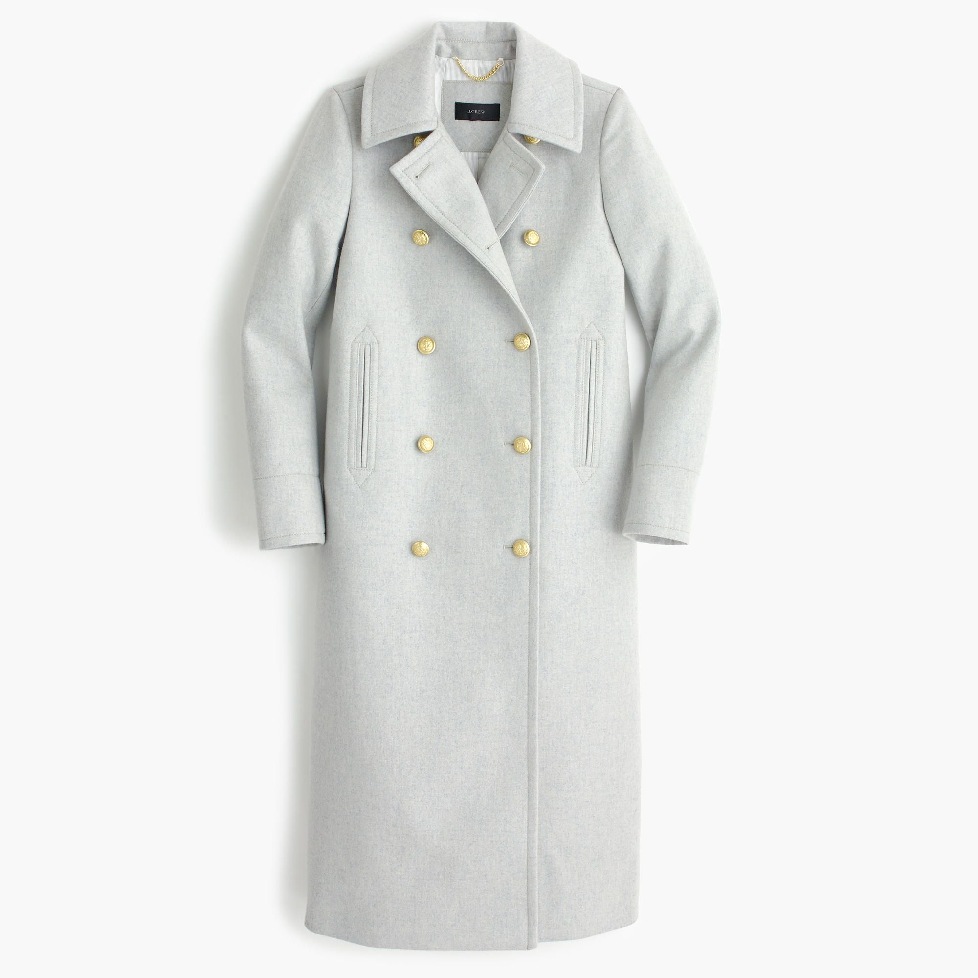 J Crew Double Breasted Topcoat In Wool Cashmere Coats For Women Petite Coat Clothes