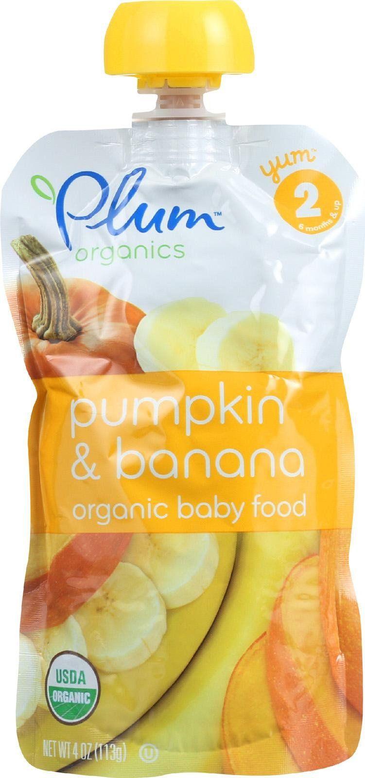 Plum organics baby food organic pumpkin and banana