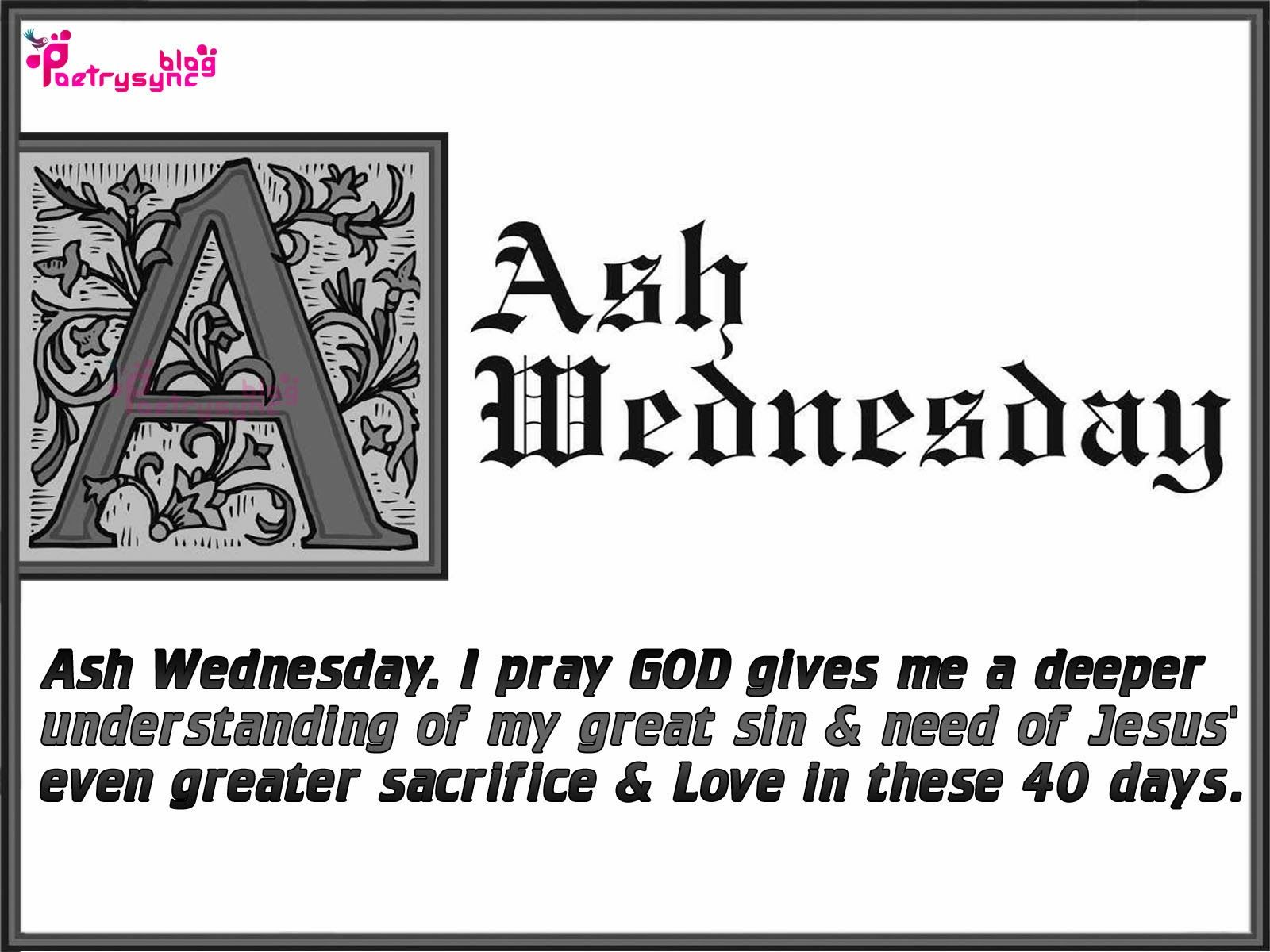Ash Wednesday Wishes And Greetings Image Card With Wishes Quotes