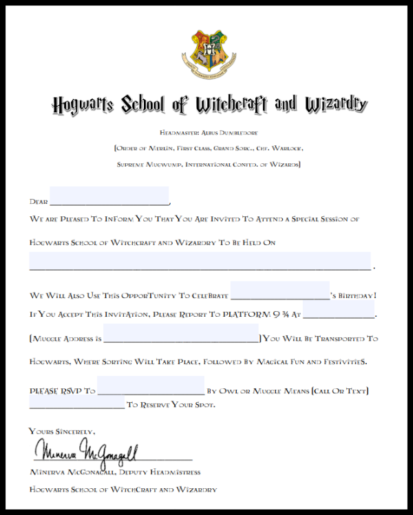 Harry potter birthday party invitations and hedwig owl balloons free printable harry potter birthday party invitations hogwarts acceptance letter and hedwig owl balloons via filmwisefo