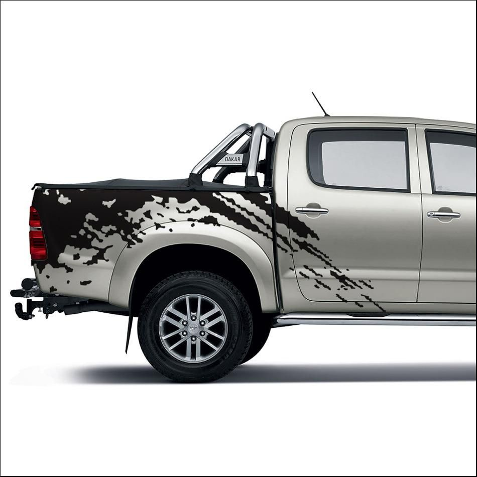 Car Stickers 2pc Mudslinger Body Rear Tail Side Graphic Vinyl Car Accessories Sticker Custom For Toyota Hilux Vigo 2011 2014 Toyota Hilux Car Stickers Toyota