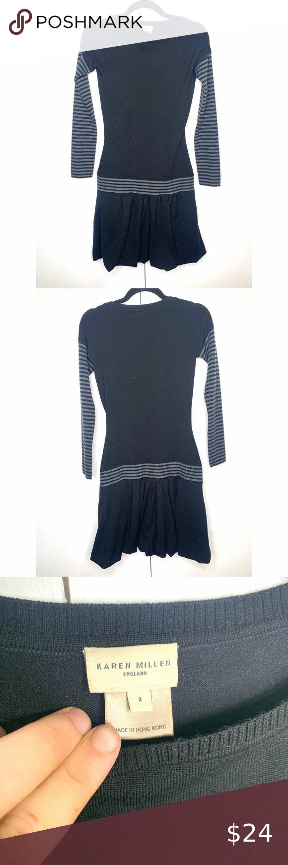 Karen Millen Long Sleeve Sweater Dress Karen Mille
