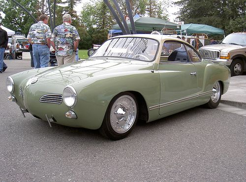 Karmann Ghia Love this color The lack of bumper is nice too