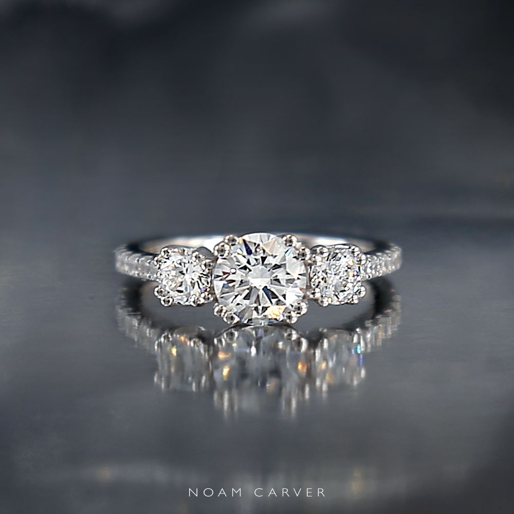 And The Band Would Make It Easy To Find A Matching Wedding 3 Stone Three White Gold Engagement Ring By Noam Carver
