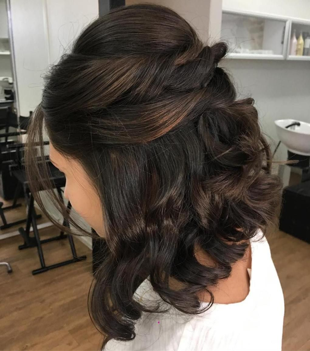 hottest prom hairstyles for short hair half updo prom