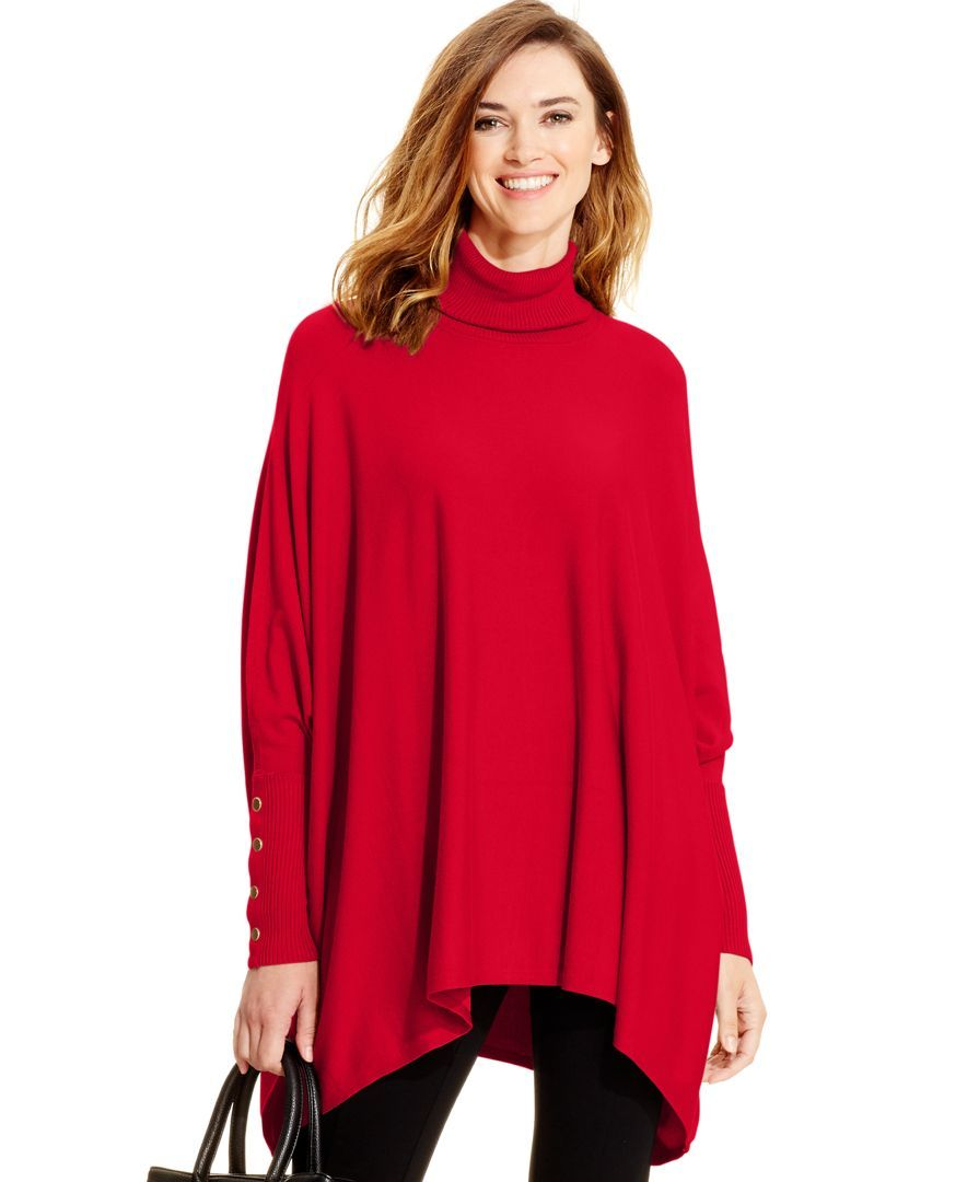 Alfani Turtleneck Poncho Sweater, Created for Macy's - Sweaters - Women -  Macy's