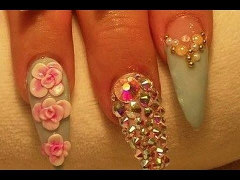 Acrylic Nails Tutorial How To Make 3d Flowers Nail Art Orchid