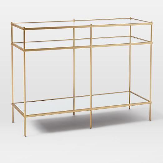 Terrace Console Glass Shelves Console Furniture