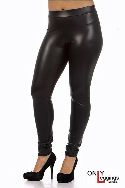 Premium Matte Faux Leather Leggings Plus Size - Leggings Superstore