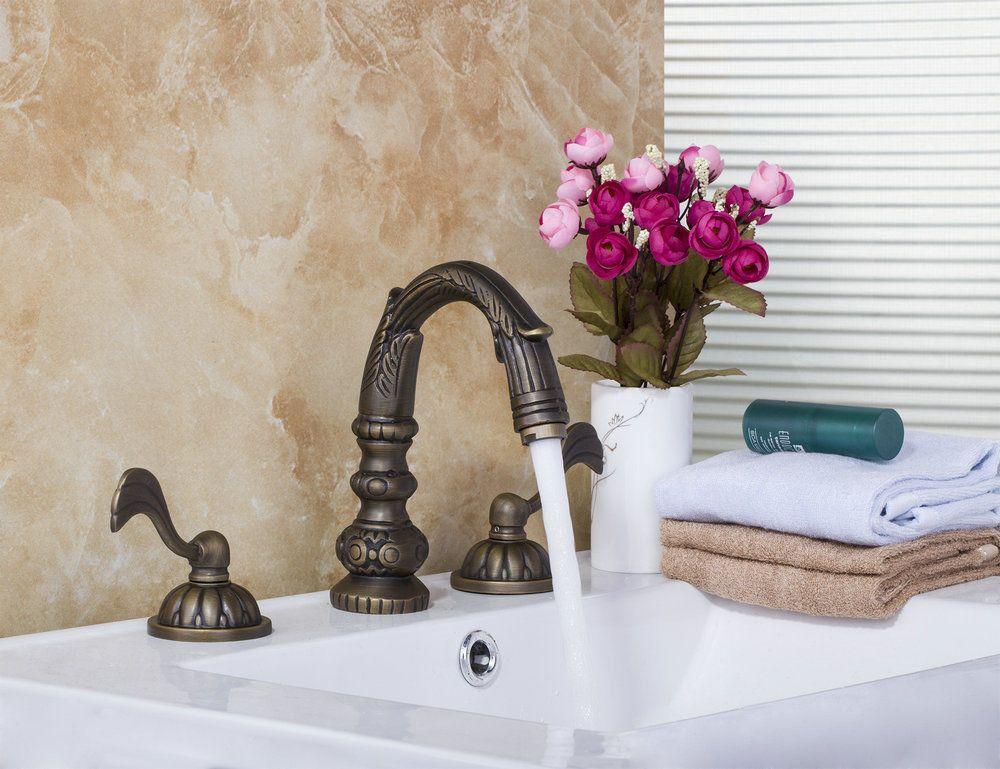 Ottone antico 3 pezzi lavabo bagno piattaforma