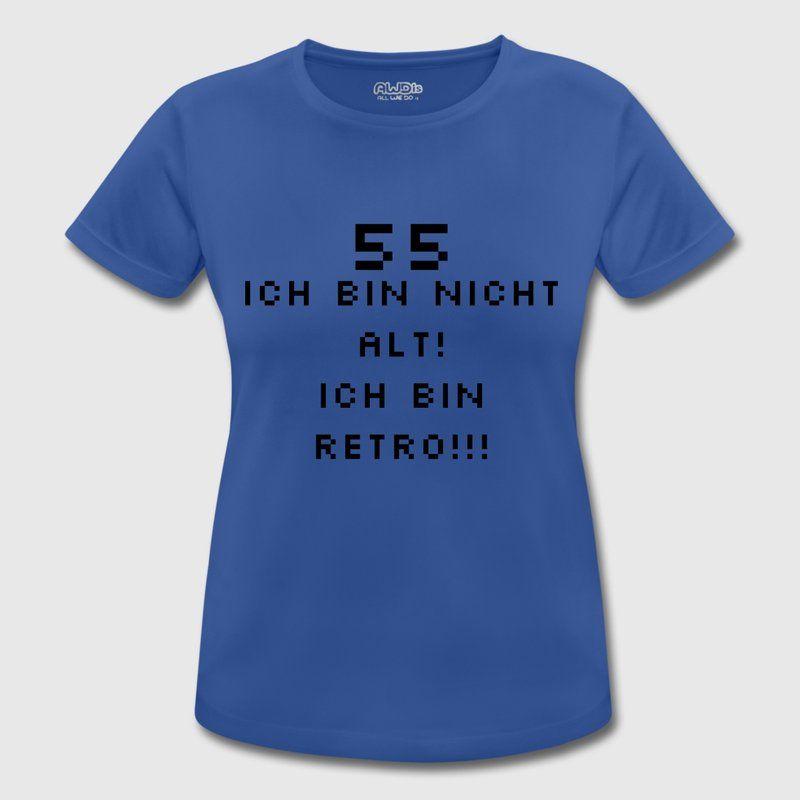 Retro 55 Geburtstag Frauen T Shirt Atmungsaktiv Sport T Shirts