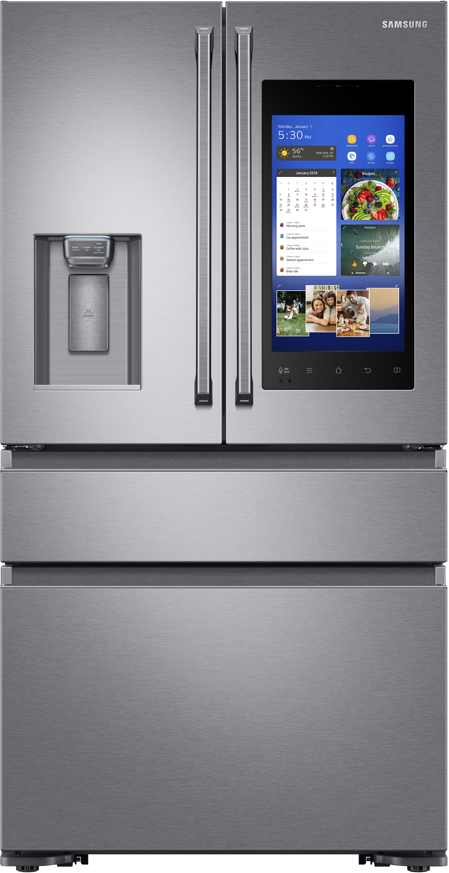 Samsung 36 Inch 22 2 Cu Ft French Door Refrigerator Stainless