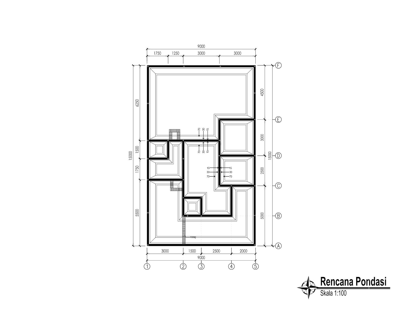 Contoh Gambar Kerja Lengkap Rumah Minimalis 1 Lantai Rumah Minimalis Denah Rumah Rumah