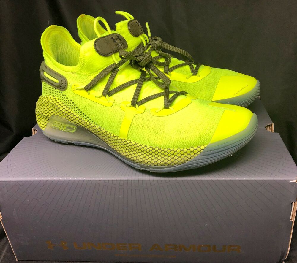 Under Armor Curry 6 Size 7.5 Yellow SC