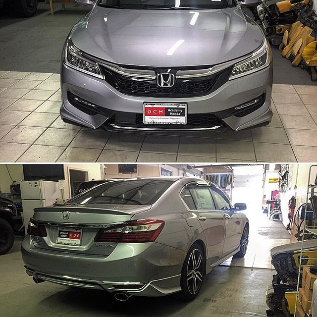 My New Baby With The Lipkit And Sport Grill Installed 2016accord Hondaaccord Accordtouring Accord