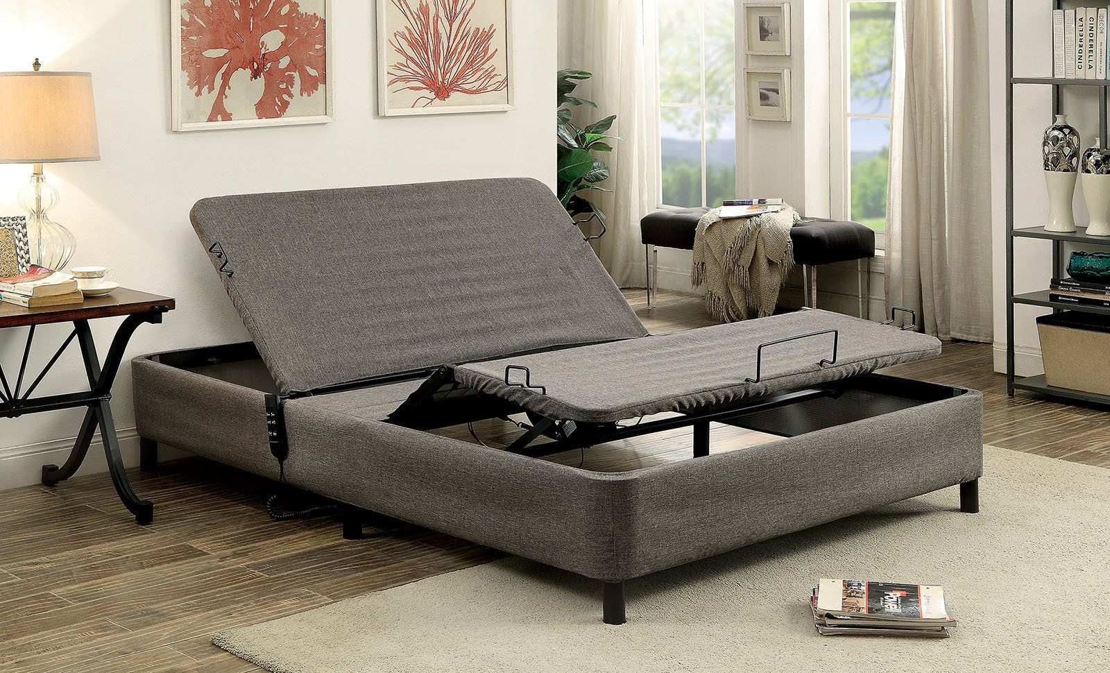 Furniture Of America Mt Frm50 Q Framos Queen Adjustable Bed Frame Adjustable Beds Adjustable Bed Frame Bed Frame