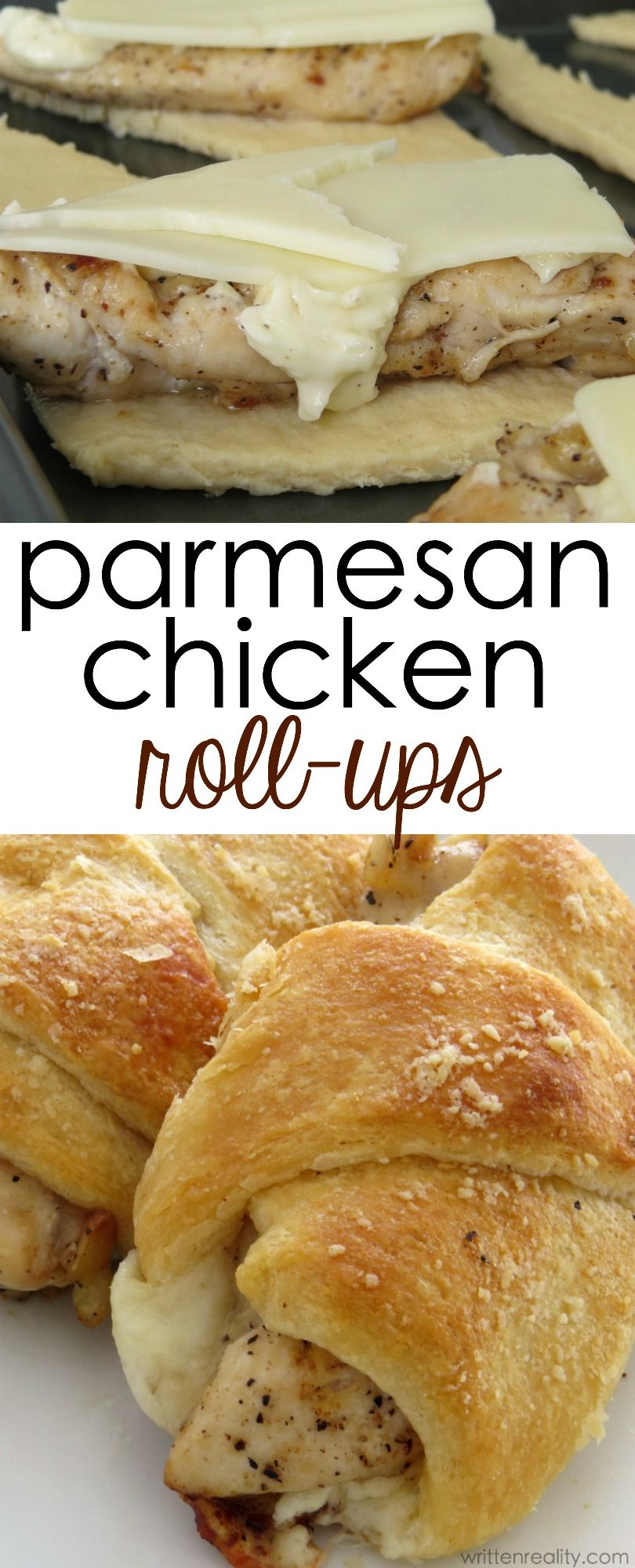 Parmesan Chicken Roll Ups - Written Reality