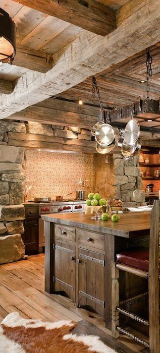 French country-style kitchen