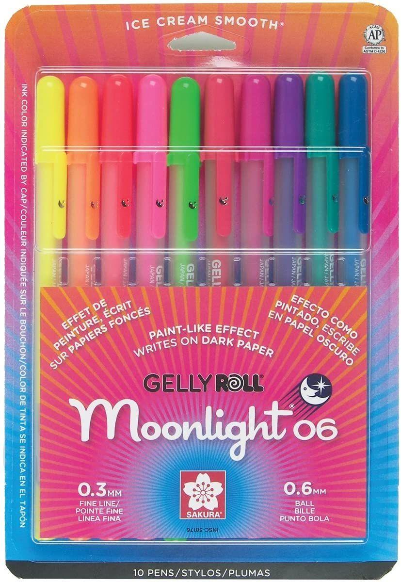 Sakura Gelly Roll Moonlight Fine Point Pens 10 Pkg Other Multicoloured Amazon Co Uk Kitchen Home In 2020 Fine Point Pens Pen Sets Pen