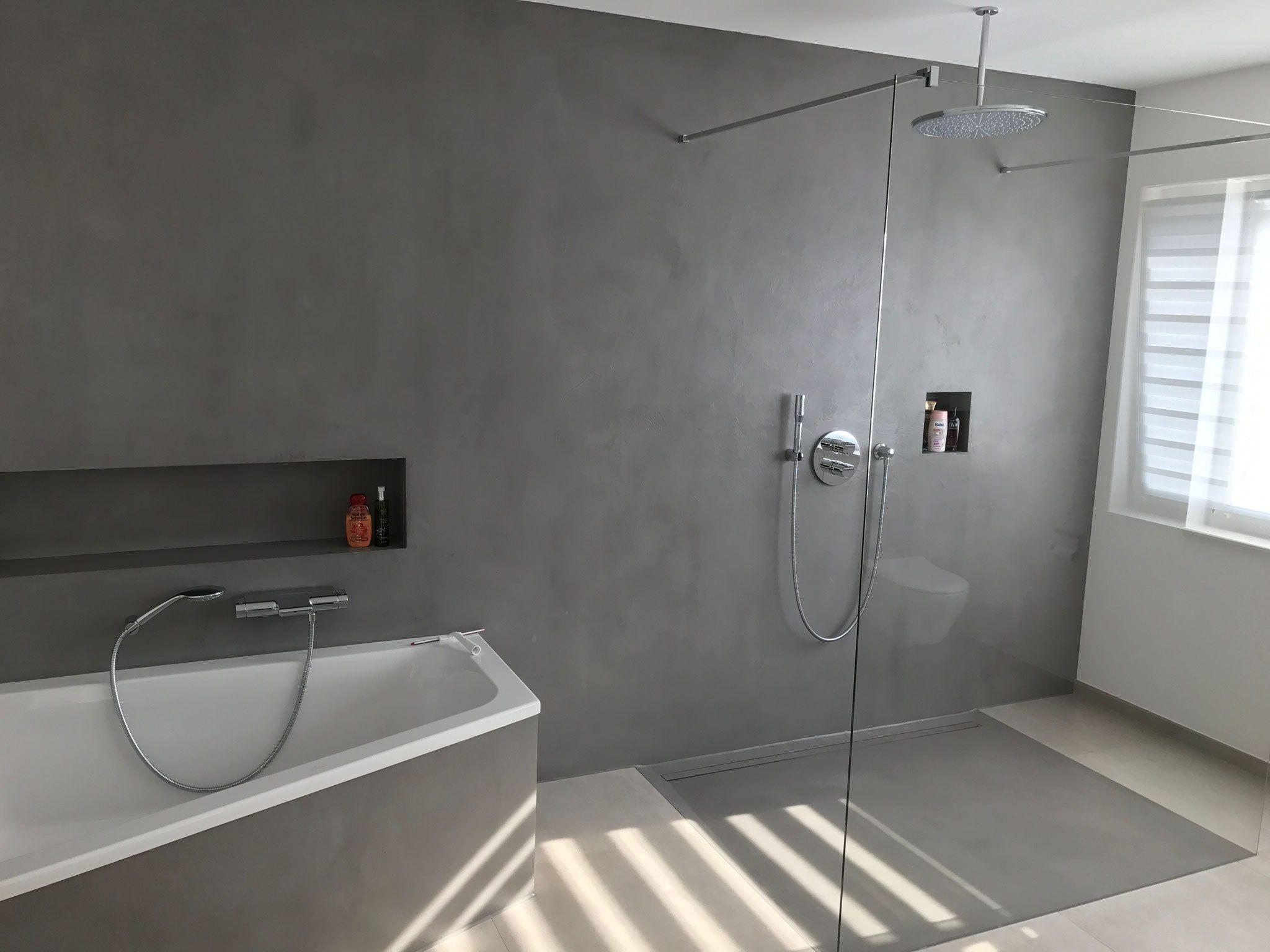 Putz Badezimmer ~ Carameo mineralischer putz für fugenlose bäder und spachtelböden