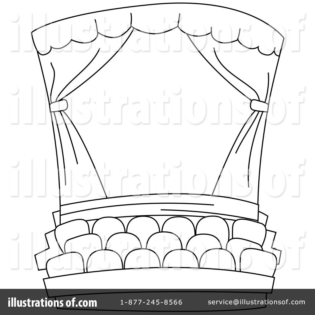 Black And White Stage Curtain Coloring Page Coloring Pages Detailed Coloring Pages Easy Crafts For Teens