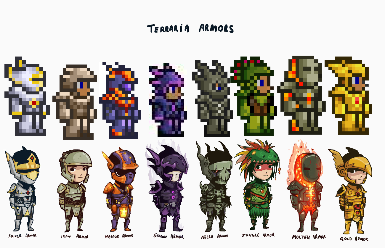 Anime Characters In Terraria : Terraria i have shadoe armor fith to last set of