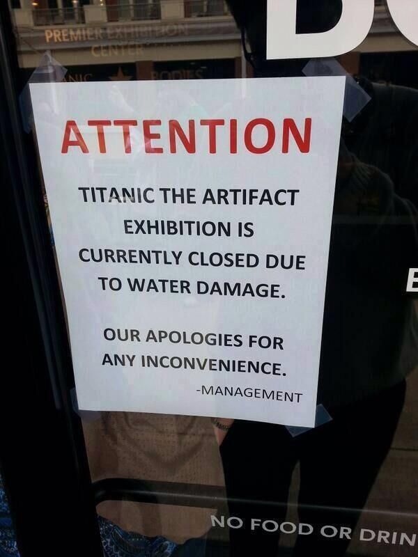 Titanic exhibition in Belfast closes for most hilarious reason possible..