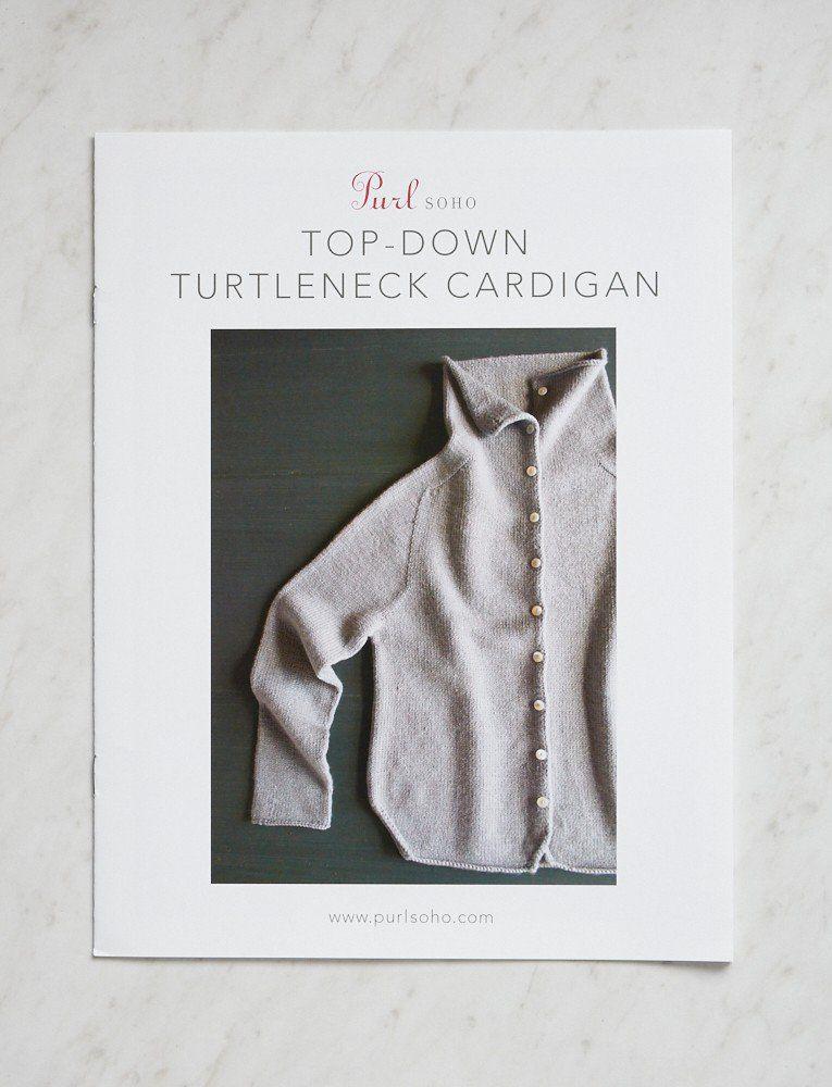 9bdda0ae2 Top-Down Turtleneck Cardigan Pattern