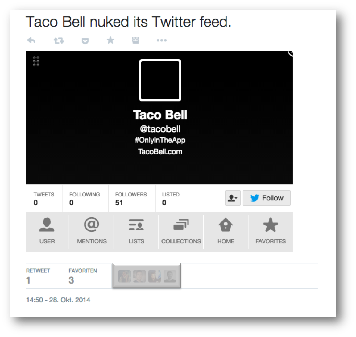 Taco Bell Social Media Blackout Taco Bell Social Media Tacos