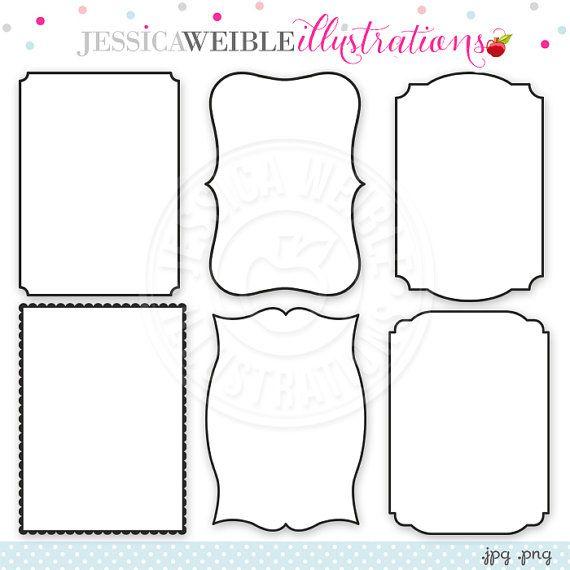 5 X 7 Frame Inserts Digital Clipart In Black Commercial Use Etsy Clip Art Digital Clip Art Invitation Frames Design