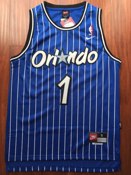 85ccdd39f Men 1 Penny Hardaway Blue Jersey Orlando Magic Thowback Swingman Jersey