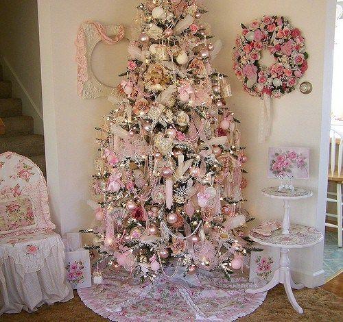 decoracin navidea en rosa