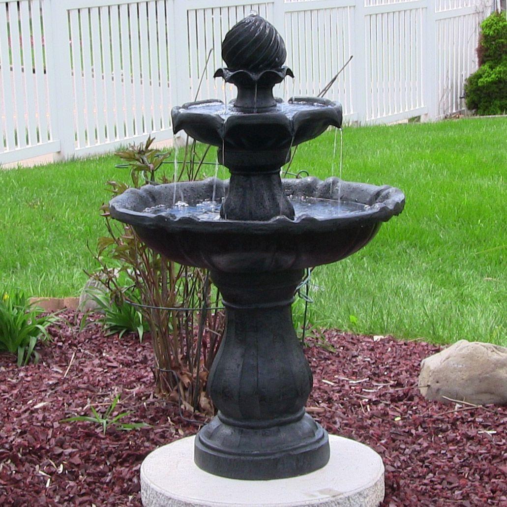 Outdoor 2 Tier Solar Water Fountain For Your Garden Or Patio. Great ...