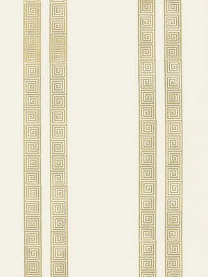 Schumacher Wallpaper Greek Key Stripe Straw Price
