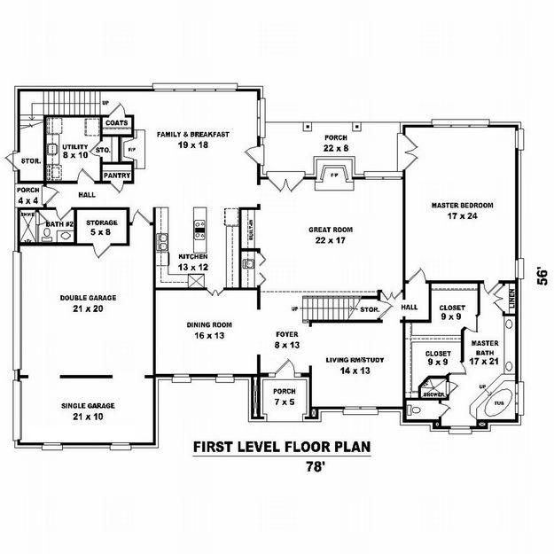 house plan 053-01998 - traditional plan: 5,333 square feet, 5