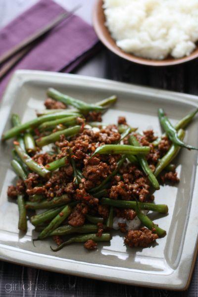 Szechuan Green Beans With Ground Pork Ground Pork Recipes Green Beans Pork Recipes