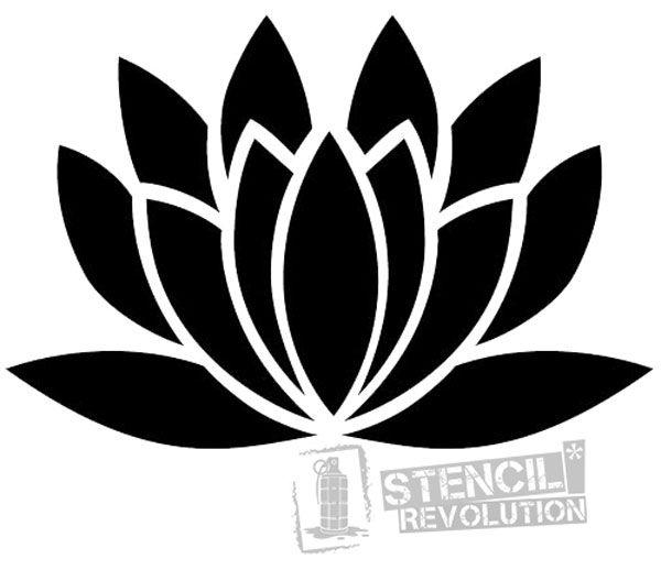 Lotus Flower Stencil | Stencil designs | Free stencils, Stencil diy