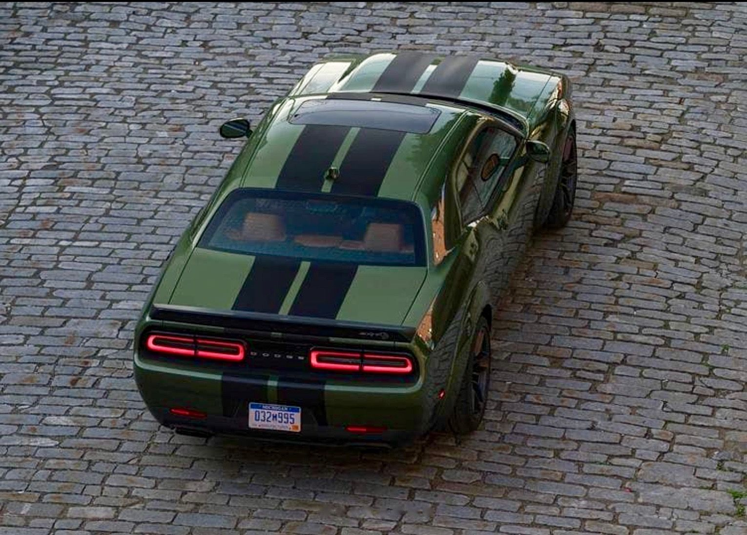 2019 Dodge Challenger Srt Hellcat Redeye In F8 Green With Dual