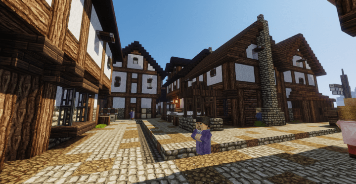 Medieval Castle And Town This Build Depicts A Situated On The Coast It Consists Of Large Keep As Main Living Space Final Defense