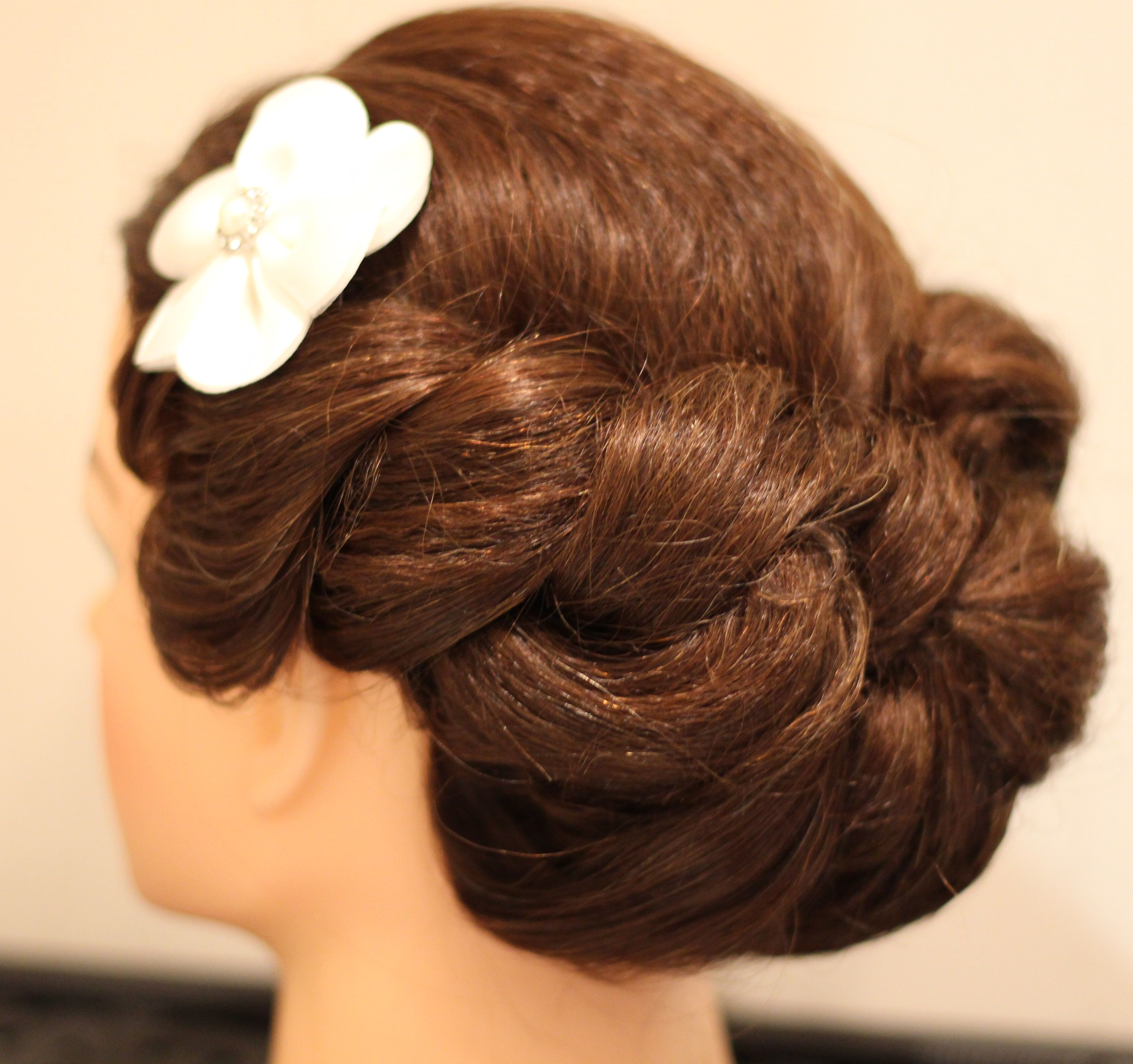 Bridal Updo On Crimped Hair Crimped Hair Bridal Updo Hair Updos