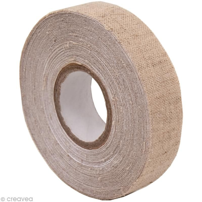 Fabric Tape - Patchwork Family - Lin Beige - 15 mm x 5 m - Tissu thermocollant - Creavea #fabrictape