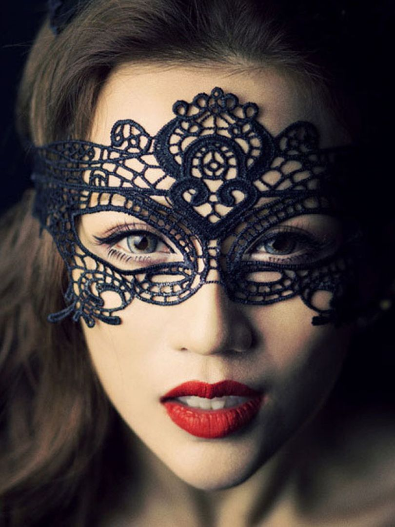 Bat Crochet Lace Mask - Choies.com | Crochet mask, Crochet ...