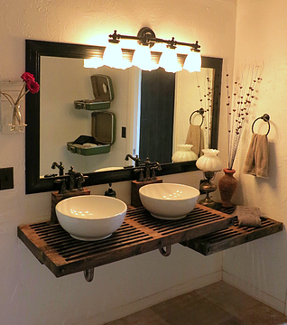 A floating vanity could meet the ada and height - Ada bathroom mirror requirements ...
