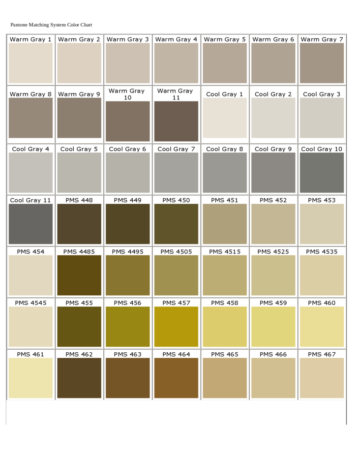 Pantone Matching System Color Chart Free Download Pantone Color Chart Pms Color Chart Pantone Color