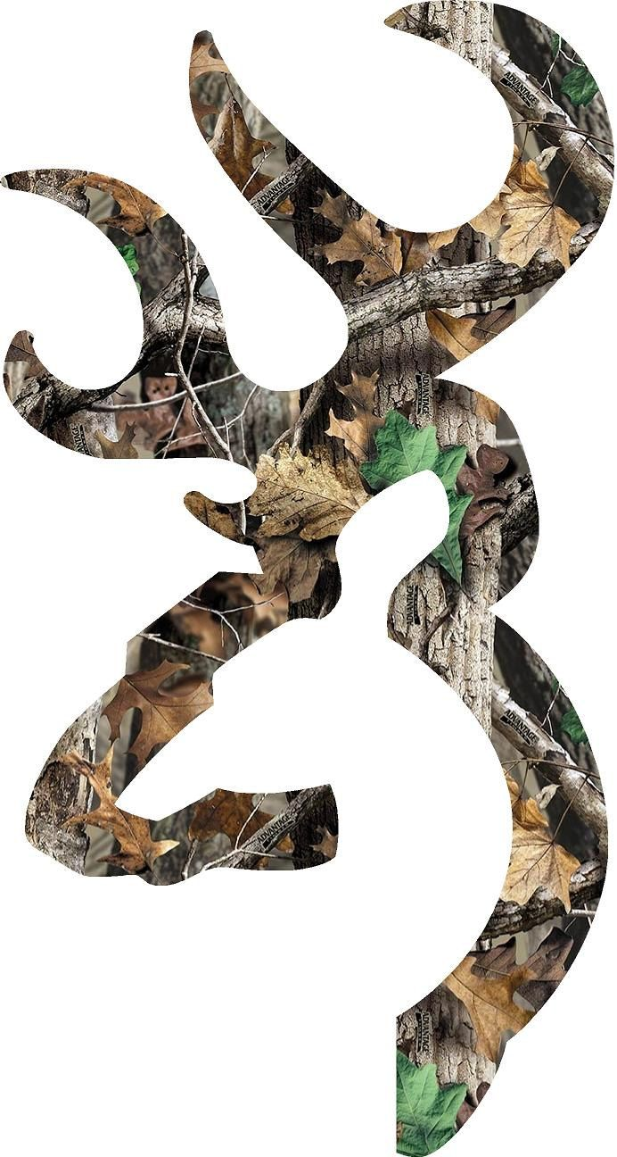 browning style deer camo patterns decalsticker 2quot30